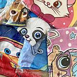 Пончо, детское полотенце с капюшоном, хлопок 100%, фото 3