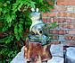 Лягушка лежаячая на пне 34,5 см керамика - садовый декор, фото 2