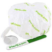 IHerb Goods, шапочка для душа, зеркало и пилочка для ногтей