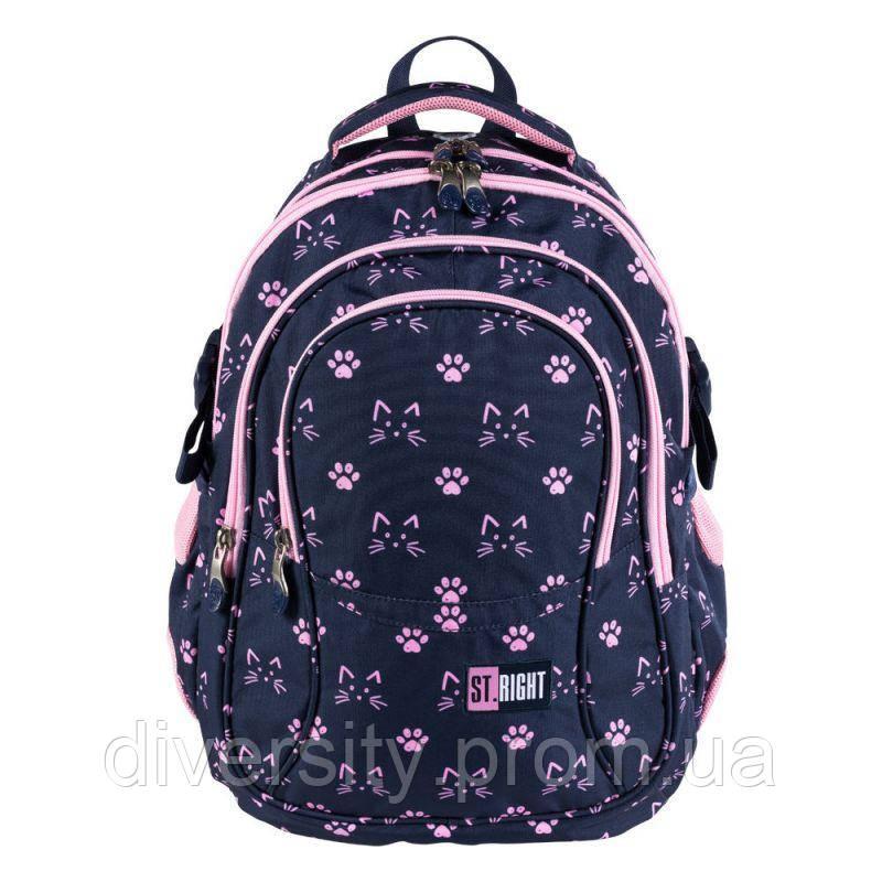 """Подростковый школьный рюкзак BP-01 """" CATS&PAW """"  ST.RIGHT 627354"""