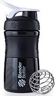 Шейкер Blender Bottle SportMixer MINI Black-White (591 мл.)