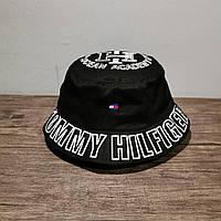 Мужская стильная панама (Tommi Hilfiger) black / 58 размер