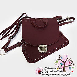 Набор для рюкзака (эко-кожа), бордо