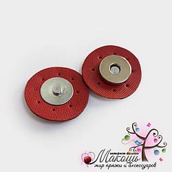 Магнитная кнопка для сумки, 3.5 см, красный