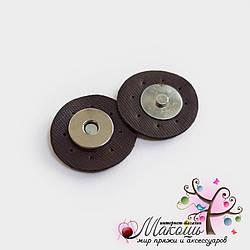 Магнитная кнопка для сумки, 3.5 см, шоколад