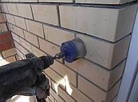 Высверлить отверстие под проводку Штробление стен Киев