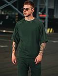 Мужской летний комплект OverSize Khaki (шорты и футболка), летний костюм оверсайз, фото 4