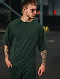 Мужской летний комплект OverSize Khaki (шорты и футболка), летний костюм оверсайз, фото 5