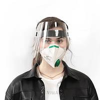 Экран-щиток защитный  100 шт Прозрачный, фото 5