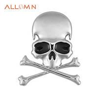 Шильд значек эмблема украшение шильдик для электрогитары автомобиля авто череп и кости