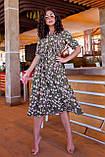 Летнее платье трапеция ниже колена батал, разные цвета р.50,52,54,56 код 5182/1А, фото 8