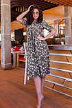Летнее платье трапеция ниже колена батал, разные цвета р.50,52,54,56 код 5182/1А, фото 9