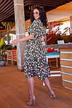 Летнее платье трапеция ниже колена батал, разные цвета р.50,52,54,56 код 5182/1А, фото 10