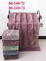 Банные полотенца махра и лен упаковка 6 шт