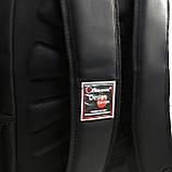 Плотный водоотталкивающий мужской черный рюкзак с ортопедической спинкой повседневный, для ноутбука, фото 4