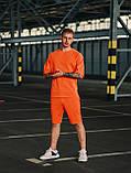 Мужской оранжевый летний комплект OverSize (шорты и футболка), летний костюм оверсайз, фото 3