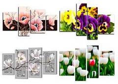 "Вафельна картинка  ""Модульна картинка_Квіти"""