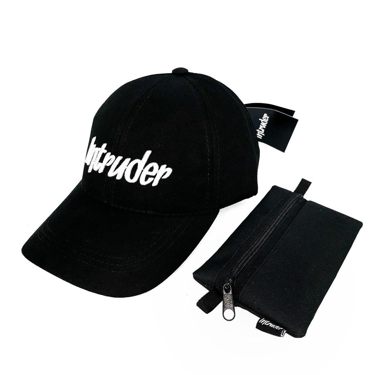 Кепка Intruder мужская   женская черная брендовая + Фирменный подарок