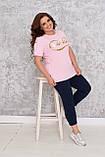 Костюм женский летний спортивный (футболка+капри), разные цвета р.48/50;52/54;56/58 код 219П, фото 9