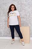 Костюм женский летний спортивный (футболка+капри), разные цвета р.48/50;52/54;56/58 код 219П, фото 7