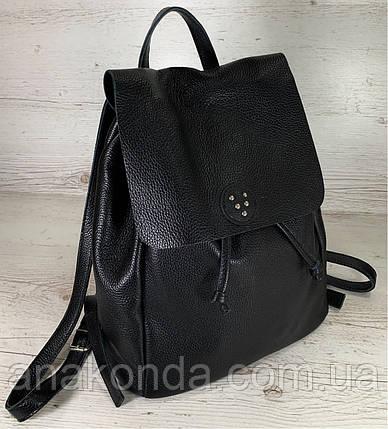 661 Натуральная кожа Городской А-4+ рюкзак кожаный зеленый рюкзак женский из натуральной кожи черный А4+, фото 2