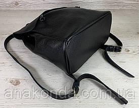 661 Натуральная кожа Городской А-4+ рюкзак кожаный зеленый рюкзак женский из натуральной кожи черный А4+, фото 3