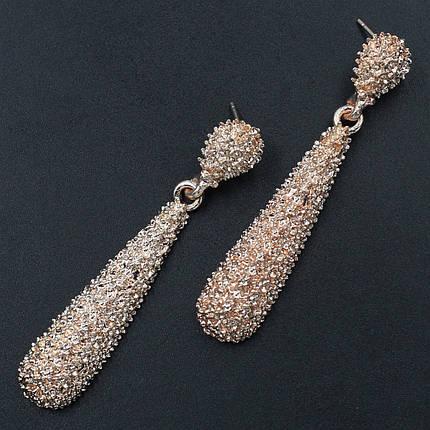 Женские серьги 60х12 мм в стиле Zara золотые, фото 2