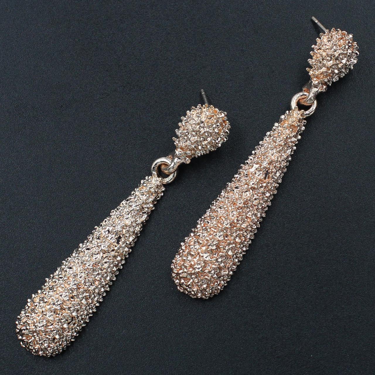 Женские серьги 60х12 мм в стиле Zara золотые