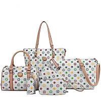 Комплект сумок,6 в 1,3 цвета,экокожа