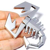 Шильд значек эмблема украшение шильдик для электрогитары автомобиля авто скорпион хром