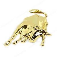 Шильд значек эмблема украшение шильдик для электрогитары автомобиля авто бык золотой