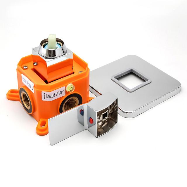 Комплект гигиенический душа для скрытого монтажа SGD-02 с латунным смесителем в монтажной коробке iBox.