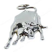 Шильд значек эмблема украшение шильдик для электрогитары автомобиля авто бык хром