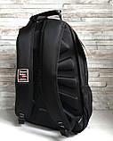 Большой прочный мужской рюкзак черный с ортопедической спинкой городской, для ноутбука, фото 4