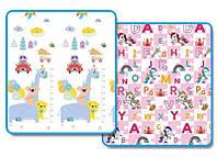 Детский коврик Алфавит + животные складной развивающий коврик 2м х 1,5м толщина 10 мм
