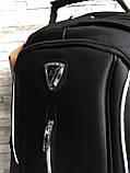 Большой прочный мужской рюкзак черный с ортопедической спинкой городской, для ноутбука, фото 8
