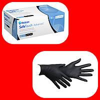 Нітрилові рукавички,Medicom Black S 100шт./уп.