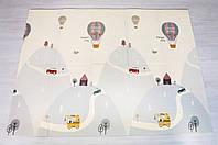 Детский коврик Воздушный шар - животные складной развивающий коврик 2м х 1,8м толщина 10 мм