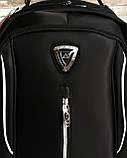 Мужской черный прочный рюкзак с ортопедической спинкой повседневный, для ноутбука 15,6-17 дюймов, фото 10