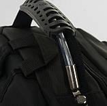 Мужской черный прочный рюкзак с ортопедической спинкой повседневный, для ноутбука 15,6-17 дюймов, фото 9