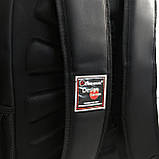 Мужской черный прочный рюкзак с ортопедической спинкой повседневный, для ноутбука 15,6-17 дюймов, фото 6