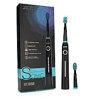Электрическая звуковая зубная щетка Seago Sonic SG958, Black, фото 7