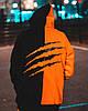Худи унисекс Пушка Огонь Scratch черно-оранжевый