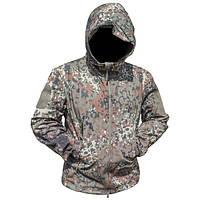 Тактическая куртка Soft Shell ESDY A00 XXL мужская влаго-ветрозащитная ACU Камуфляж (4255-12471)