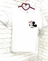 Футболка белая с принтом Mickey Mouse OX!, фото 1