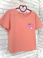 Футболка розовая с принтом  Pink Panther, фото 1