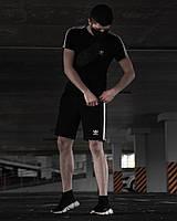 Летний комплект Adidas Runner черный, фото 1