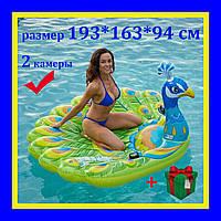 Надувной матрас плот Intex Павлин193 * 163 * 94 см