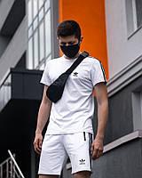 Летний комплект Adidas Runner белый, фото 1