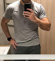 Мужская футболка Nike серая, фото 1